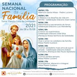Semana Nacional da família de 08 a 15 de agosto